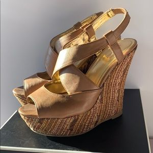 Bambo Nude Wedge Sandals